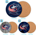 Columbus Blue Jackets Wood Coffee Coaster Cup Mug Mat Pad Table Decor $3.49 USD on eBay