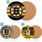 Boston Bruins Wood Coaster Cup Mat Coffee Drink Mug Pad $4.69 USD on eBay