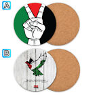 Free Palestine Victory Wood Coaster Cup Mat Coffee Drink Mug Pad $3.99 USD on eBay