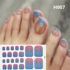 Women Tips French Full Cover Fake Toe Nail Tips DIY Manicu Sets Nail Sticker New $0.7 USD on eBay