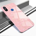 Luxury Glitter Shockproof Tempered Glass Case For Redmi Note 7 5X & Xiaomi Mix 2