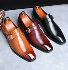 Large Size Mens Square Toe Patent Leather Buckle Oxfords Business Dress Shoes