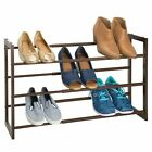 Внешний вид - mDesign Metal 3 Tier Adjustable/Expandable Shoe and Boot Rack