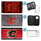 Calgary Flames Leather Travel Passport Holder Organizer Wallet $15.99 USD on eBay
