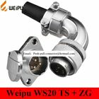 Original Weipu Connector WS20 TS   ZG  2 3 4 5 7 9 12 Pin Female TS Angled
