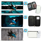 San Jose Sharks Leather Travel Passport Holder Organizer Wallet $15.99 USD on eBay