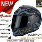 Scorpion Exo 510 Air Cipher Full Face Motorcycle Helmet | ECE 22-05 | Black/Gold