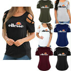 Women Summer Cold Shoulder Loose Top Short Sleeve Blouse Casual Tops T-Shirt Tee