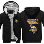 Minnesota Vikings Fan Hoodie Fleece zip up Coat winter Jacket warm Sweatshirt on eBay
