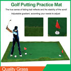 Golf Putter Mat Green Grass Carpet Putting Simulator with Adjustable Gradient
