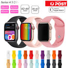 For Apple Watch Iwatch Series 12345 Silicone Replacement Strap Band 38 40 42 44m