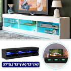 57'' MODERN TV UNIT CABINET STAND W/LED LIGHT SHELVES RC CONSOLE HOME FURNITURE
