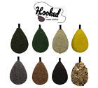 10 x Inline Flat Pear Carp Leads - 3oz - Speckled Brown