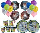 Puppy Dog Pals Balloons, Plates, Cups, Birthday Party Decorations, supplies