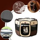 US Pet Dog Cat Playpen Tent Exercise Fence Kennel Cage Portable Soft Crate House