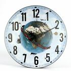 Large Wall Clock Modern Silent Design Creative Earth Picture Art Living Decor