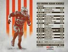 Cleveland Browns Football Schedule 2019 Poster $11.99 USD on eBay