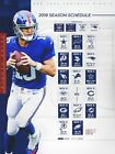 New York Giants Football Schedule 2019 Poster $11.99 USD on eBay