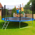 Trampolines 12 Foot Round Outdoor Trampoline with Enclosure W/Spring Pad Ladder image
