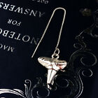 Simple Women's Pendant Earrings Creative Shark Tooth Model Earrings Punk Wild