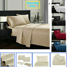 Queen King Deep Pocket Bed Sheets Set Fitted Flat 1800 Count Egyptian Comfort G3 image