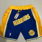 Warriors Vintage NBA Basketball Shorts Men's Pants NWT Stitched
