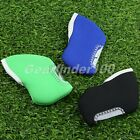 10Pcs Golf Club Iron Head Covers Rod Head Prevent Scratched Black/Red/Green UK