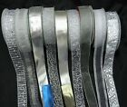 CHRISTMAS SILVER  WIRED WIRE EDGE  RIBBON 38MM / 1.5 inch WIDE 5M 10M