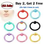 5pcs 16G Surgical Steel Captive Bead Ring Nose Tragus Lip Nipple Belly Piercing image