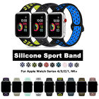 38/42/40/44mm Silicone Sport iWatch Band Strap for Apple Watch Series 4/3/2/1 NK image