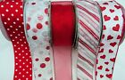 5M / 10M CHRISTMAS RED  WIRED WIRE EDGE  RIBBON 63MM WIDE