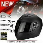 Scorpion EXO 490 Matt Black FullFace Motorcycle/ Bikes Unisex Helmet│All Sizes