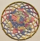 Original Crochet Doily in Ring Wall Hanging
