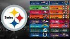 Pittsburgh Steelers Football Schedule 2019 Poster $11.99 USD on eBay