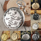 Vintage Steampunk Pocket Watch Full Hunter Pendant Retro Classic Chain Mens Gift image