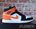 Nike Air Jordan 1 Mid Shattered Backboard Black Starfish  White 554724-058 Size