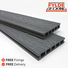Grey Slate 3.6m Composite WPC Decking Natural Woodgrain DIY Kit  | FREE Delivery