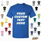 Personalized Custom Print Your Own Text T-Shirt Customized Tee Tagless PC54 image