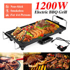 1200W Non-Stick Smokeless Electric Barbeque Grill for Indoor Outdoor BBQ