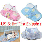 Baby Infant Foldable Mosquito Crib Travel Bed Net Tents Cotton US