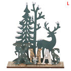 Elk Xmas Tree Pendants Hanging Wooden Christmas Ornaments Party DIY Decor zi