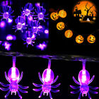 Pumpkin Spider Led String Lights Fairy Lights Halloween Party Home Decoration Uk