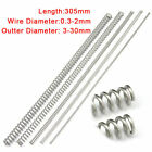 305mm Compression Spring 304 Stainless Steel Pressure Springs All Sizes Dia Long