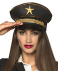 Ladies Army War Officer German Soldier Military WW2 Fancy Dress Costume Cap Hat