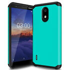 For Nokia 3.1A/3.1C Shockproof Armor Case Hybrid Bumper TPU Cover+Tempered Glass