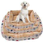 Creative Deluxe Soft Washable Dog Pet Bed Warm Basket Cushion with Fleece Lining