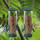 2 Pack Classic Tube Bird Feeder Outdoor Hanging Bird Feeder with Metal Handle photo