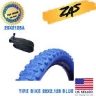 """BICYCLE TIRE 26"""" x 2.125 Black, White, Red & Blue High Quality Knobby Tire"""