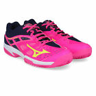 Mizuno Womens Break Shot Ex All Court Tennis Shoes Black Pink Sports Breathable