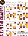 Cleveland Cavaliers NBA Basketball Schedule 2019 Poster on eBay